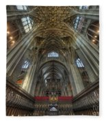 Gloucester Cathedral 2.0 Fleece Blanket