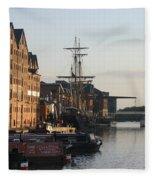 Gloucester Docks 1 Fleece Blanket