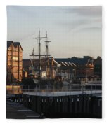 Gloucester Docks 3 Fleece Blanket