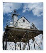 Gloucester Harbor Beacon Station Fleece Blanket