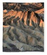 Glowing Badlands Tips Fleece Blanket