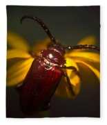 Glowing Beetle Fleece Blanket