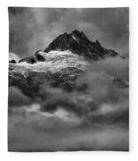 Glowing Glaciers In The Tantalus Range Fleece Blanket
