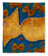 Glowing  Gold Fish Fleece Blanket