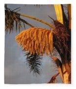 Glowing Palm Blossoms Fleece Blanket