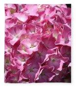 Glowing Pink Hydrangea Fleece Blanket