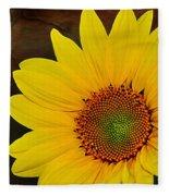 Glowing Sunflower Fleece Blanket