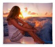 Glowing Sunrise. Greeting New Day  Fleece Blanket