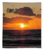 Glowing Sunrise Fleece Blanket