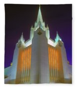 Glowing Temple Fleece Blanket
