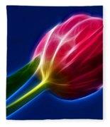 Glowing Tulip Fleece Blanket