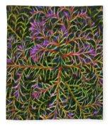 Glowing Vines Fleece Blanket