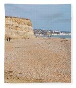 Glyne Gap Beach In England Fleece Blanket
