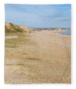 Glyne Gap Coast In England Fleece Blanket