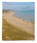 Glyne Gap Scenic In Sussex Fleece Blanket