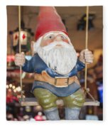 Gnome On A Swing 2 Fleece Blanket