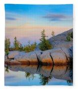 Gnome Tarn Rocks Fleece Blanket