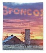 Go Broncos Colorado Country Fleece Blanket