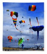 Go Fly A Kite 4 Fleece Blanket