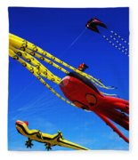 Go Fly A Kite 7 Fleece Blanket