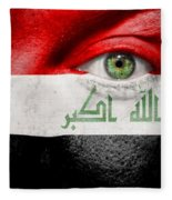 Go Iraq Fleece Blanket