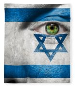 Go Israel Fleece Blanket
