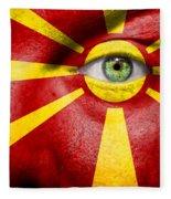 Go Macedonia Fleece Blanket