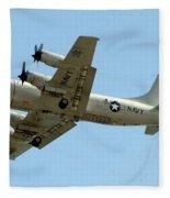 Go Navy Fleece Blanket