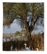 Go To The River Fleece Blanket