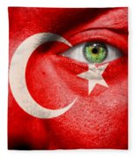 Go Turkey Fleece Blanket