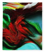 Go With The Flow Abstract Fleece Blanket
