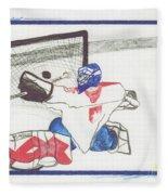 Goalie By Jrr Fleece Blanket