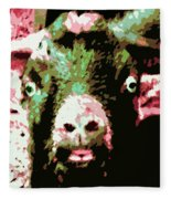 Goat Abstract Fleece Blanket