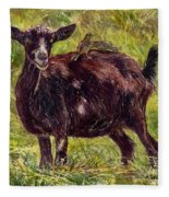 Goat Piggybackers Fleece Blanket