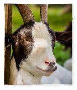 Goat Portrait Fleece Blanket