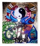 God And Gaia Fleece Blanket