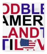 God Bless America Fleece Blanket