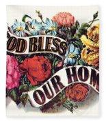 God Bless Our Home Fleece Blanket