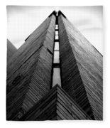 Goddard Stair Tower - Black And White Fleece Blanket