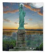Goddess Of Freedom Fleece Blanket