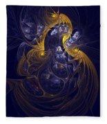 Goddess Of Healing Energy Fleece Blanket