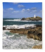 Godrevy Lighthouse - 5 Fleece Blanket