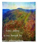 Gods Ability Fleece Blanket