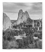 Gods Colorado Garden In Black And White    Fleece Blanket