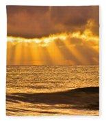 God's Eyelashes Fleece Blanket