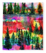 God's Kaleidoscope Fleece Blanket