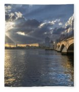 God's Light Over West Palm Beach Fleece Blanket