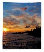 God's Morning Painting Fleece Blanket