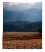 Gods Paintbrush II Fleece Blanket