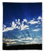 Gods Rays Fleece Blanket